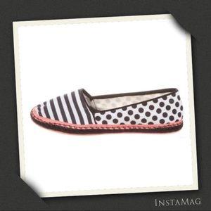SOPHIA WEBSTER Striped Polka Dots Espadrille Flats